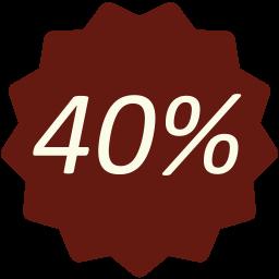 Zniżka 40%